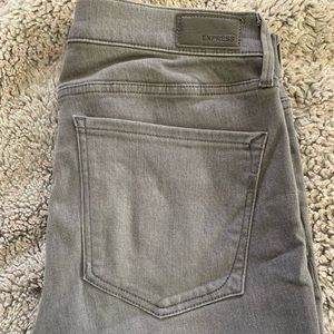 Gray Express Mid Rise Legging, Size 10R